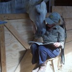 Reading a Book with a Hor