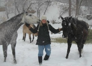 Cactus, Claudia and Candy in the Snow